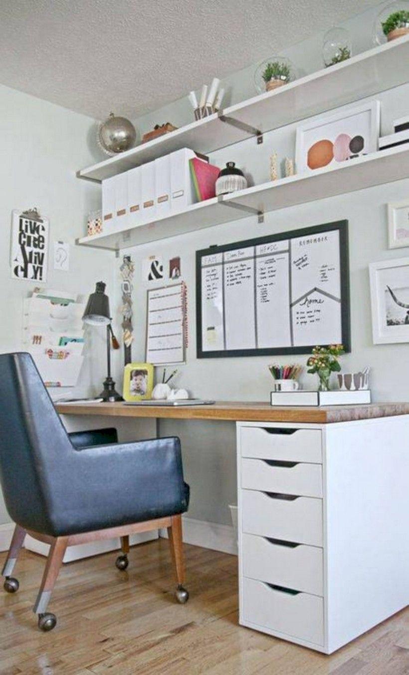 60+ Cool Creative Small Home Office Ideas http://bedewangdecor.com ...