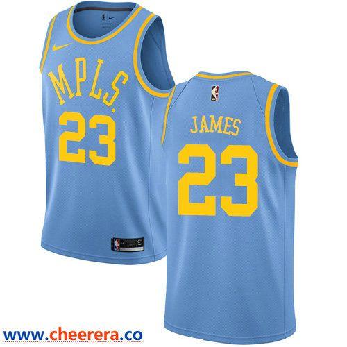 674d3c7fc3a4e7 Men s Nike Los Angeles Lakers  23 LeBron James Royal Blue NBA Swingman  Hardwood Classics Jersey