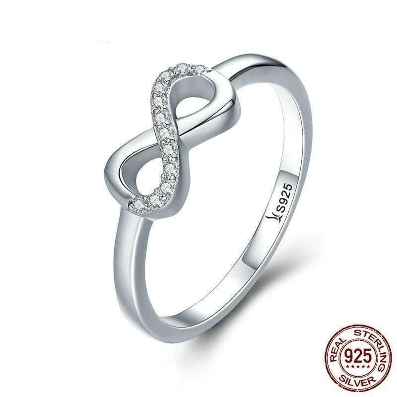 Polished Nickel Free Single Stone Jeweled Rings 925 Sterling Silver Liara