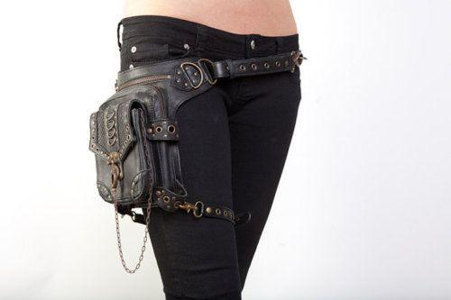 AKIBA Ri/ñonera Lateral De Moda Bolsa De Cintura Ajustable Negro