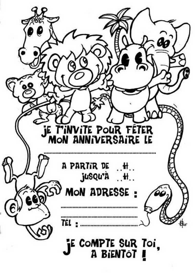Cartes invitation anniversaire imprimer fille carte - Carte anniversaire fille a imprimer ...