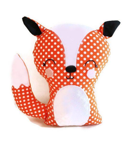 Fox Bookend or Fox Softie Sewing Pattern Easy PDF von GandGPatterns ...