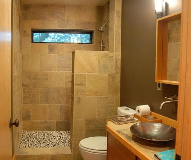 Bathroom Designs On A Budget Use A Half Wall As Part Of The Shower Screen Divider To Allow For