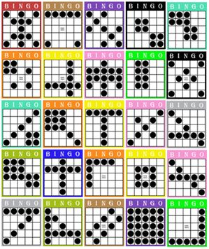 Delicate image with regard to bingo patterns printable
