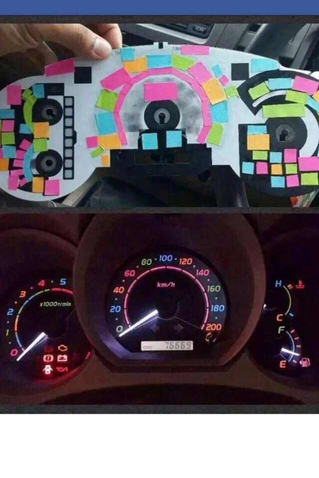 Fyi You Can Use Post It Notes To Color Your Dashboard Lights Cars