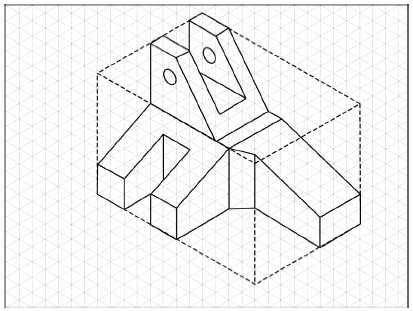 The faces of the isometric box that are coplaner, the