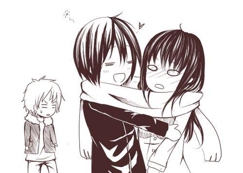 Yato x Hiyori xD Yukine is jealous ;)