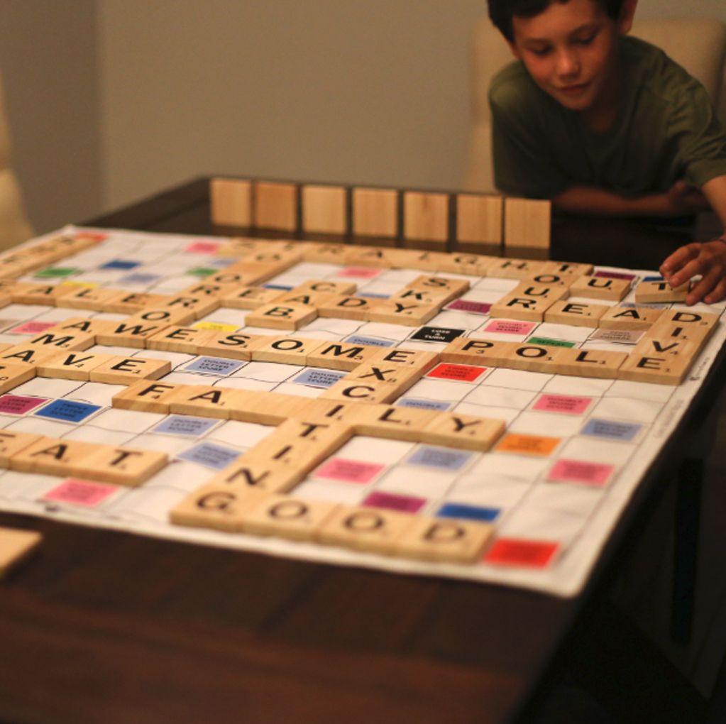 Giant wooden words game scrabble wooden words
