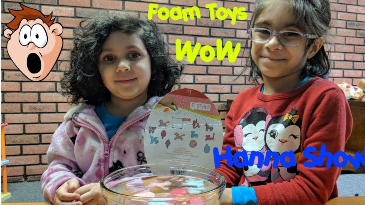Grow Up Capsules Foam Toys Fun Video- Hanna Show | Toys ...