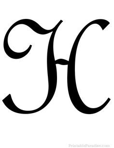 Fancy Cursive H : fancy, cursive, Printable, Cursive, Letters, Fancy, Fancy,, Cursive,, Monogram