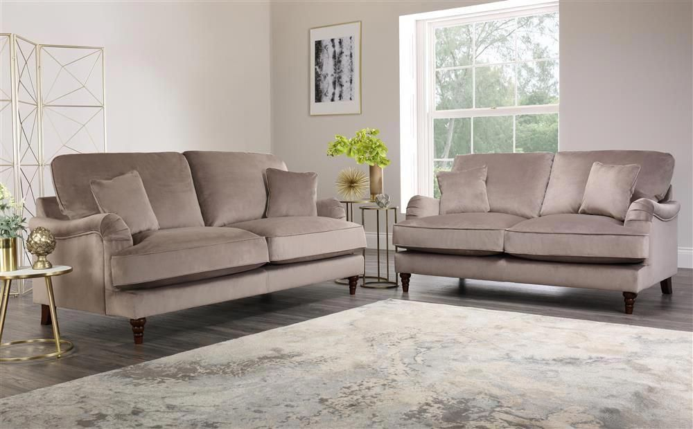 Charleston Mink Velvet Sofa 3 2 Seater Only 1299 98 Furniture Choice In 2020 Sofa Set Best Leather Sofa Sofa