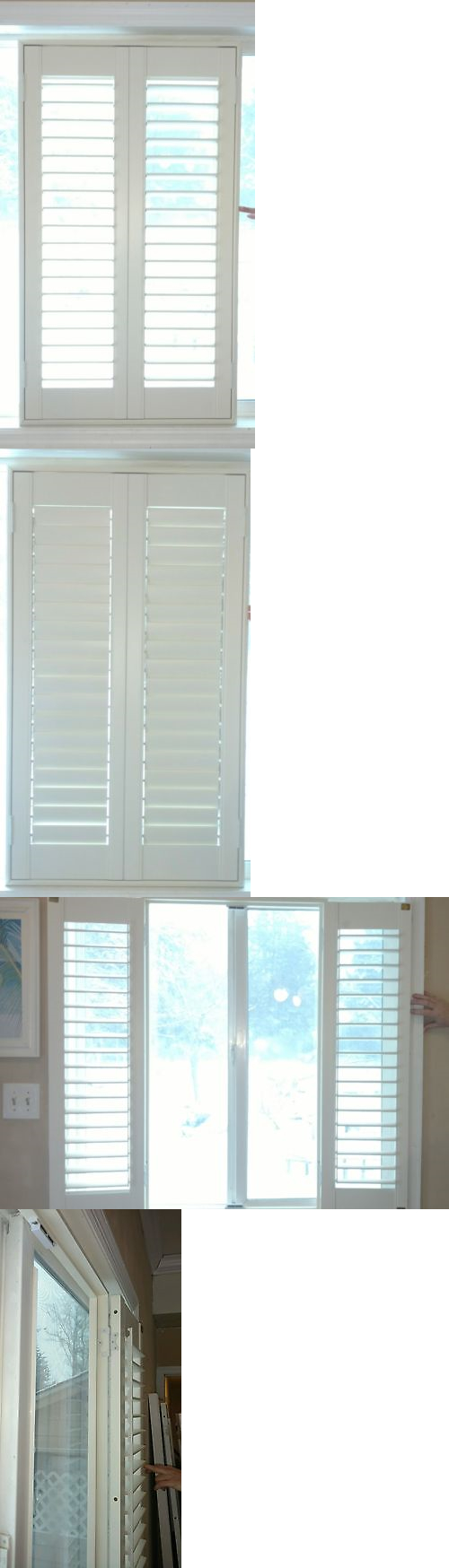 Shutters 66799: New Full View Interior Solid Wood Plantation Shutters W  Frame, 2.5 Louvers