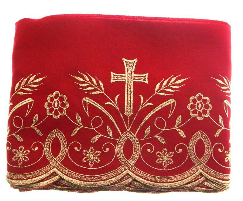 Pizzo h 20 rosso oro r bordi semprini arredi sacri arte for Arredi religiosi