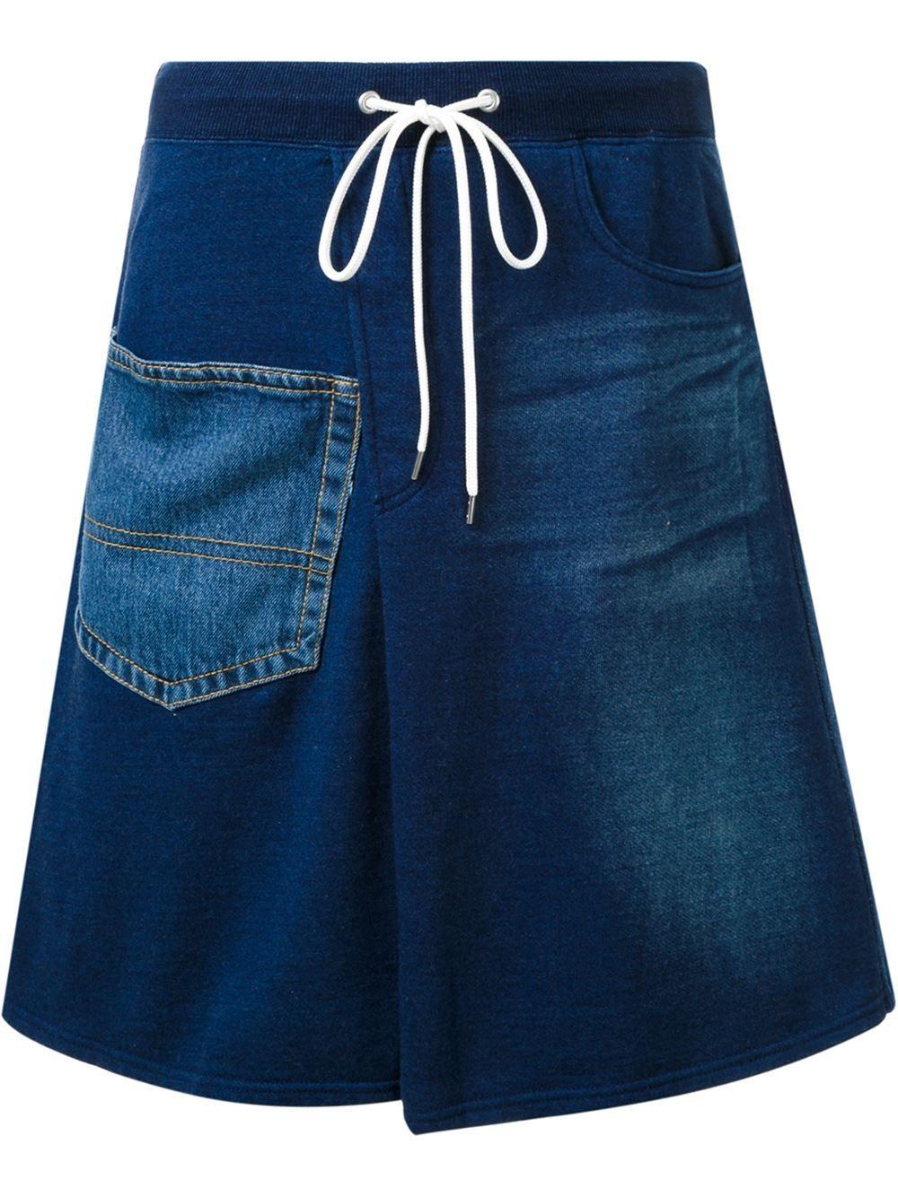 Mihara Yasuhiro falda denim con cordones