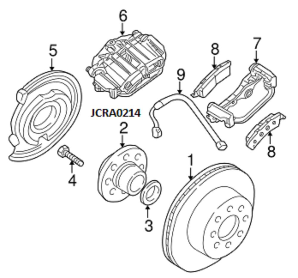 99 05 brake caliper mount bracket right left rear disc brakes 18040090 gmc gm gmc [ 1000 x 931 Pixel ]