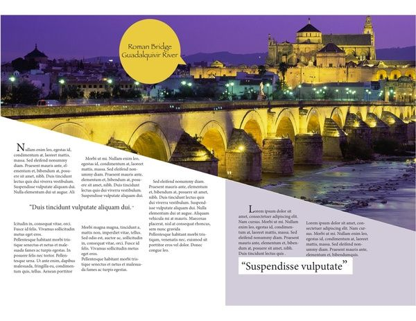 Travel Spain Brochure by Amber P, via Behance Additional Piece - travel brochure
