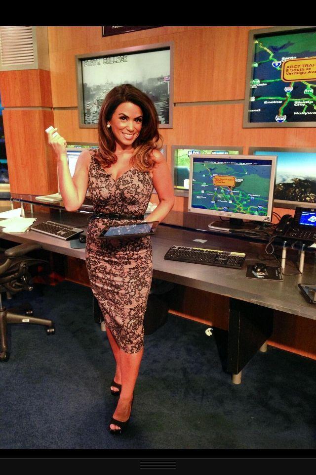 Alysha Del Valle, ABC7 Traffic Reporter shows off her