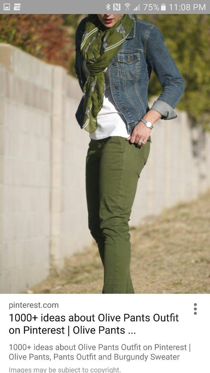 Pin De Adriana Hernandez En My Style Moda Verde Pantalones Color Verde Olivo Camisa De Moda