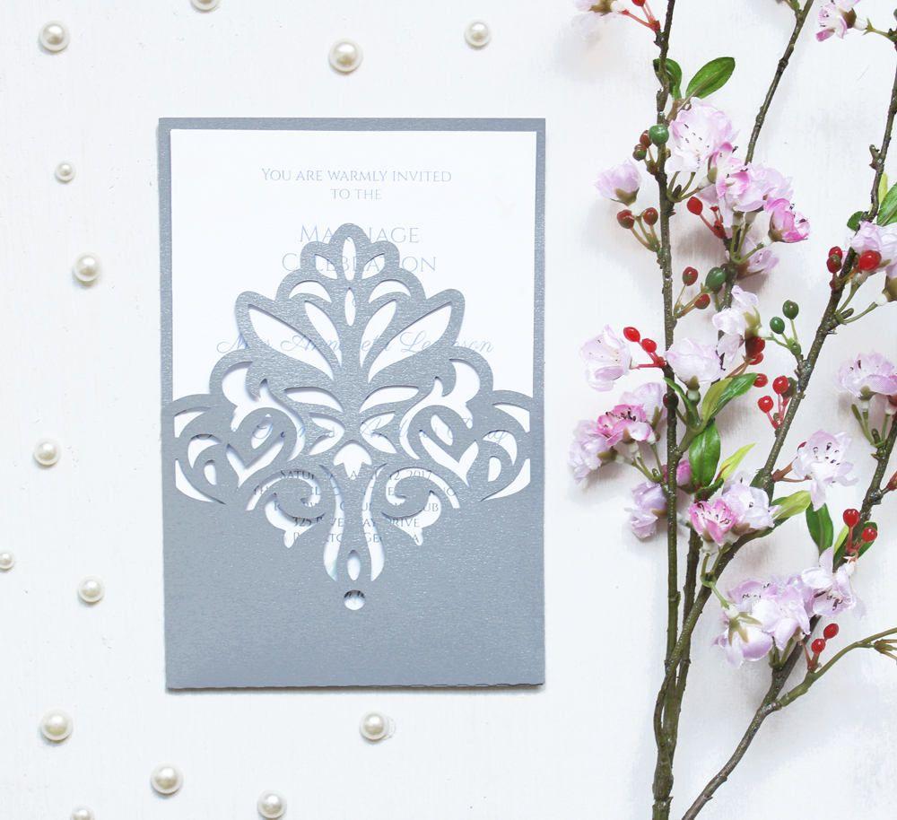 Wedding invitation - SVG, DXF, ai, CRD, eps, studio3 - Vintage Lace ...