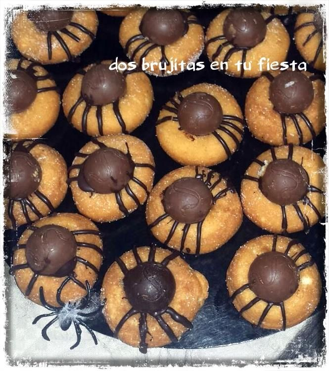 Arañas dulces Fiesta halloween Fiesta temática Mesa salada Candy
