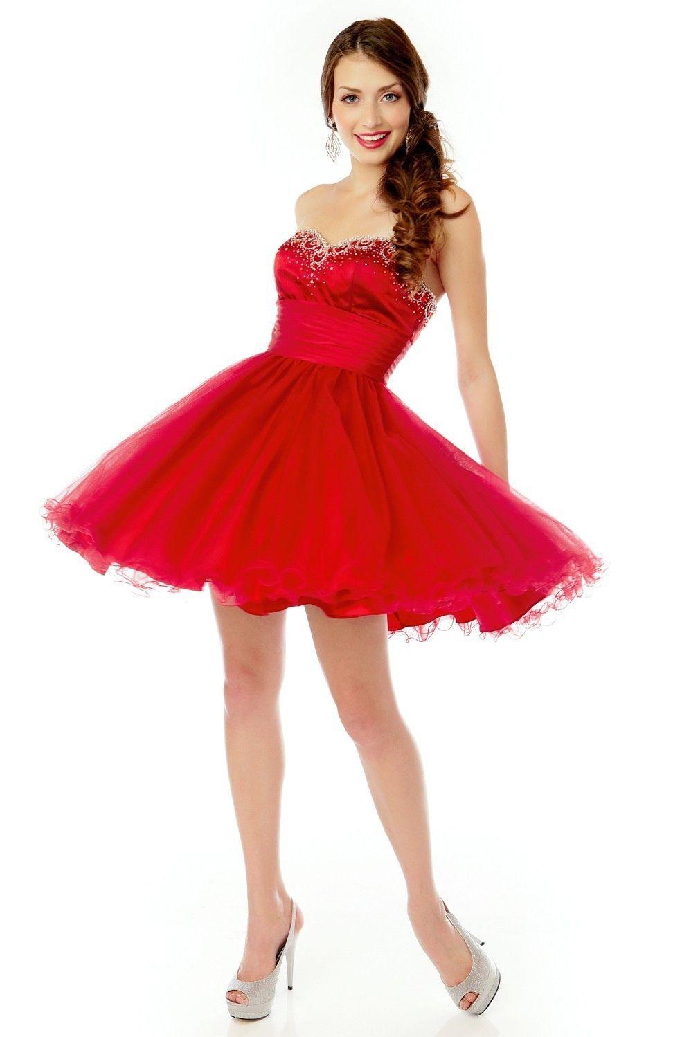 Cocktailkleid 2017 Madlen   Abendkleider Rot - günstig Abendkleider ...