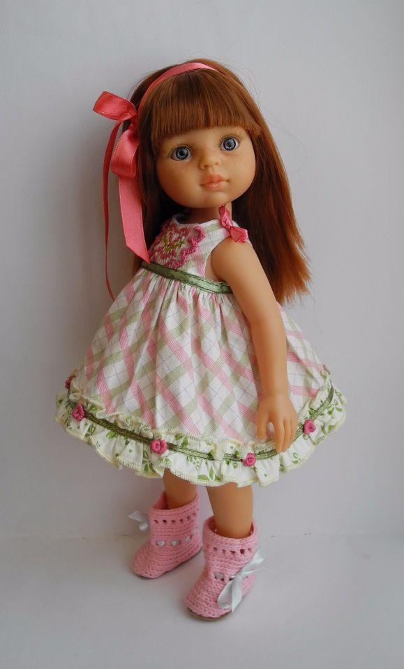 Зеленоглазая, рыжеволосая Лиу. Кастом куклы от Paola Reina