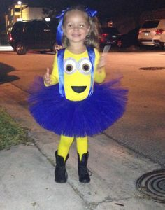 Disfraz de Miniom con tutu  sc 1 st  Pinterest : minion toddler girl costume  - Germanpascual.Com