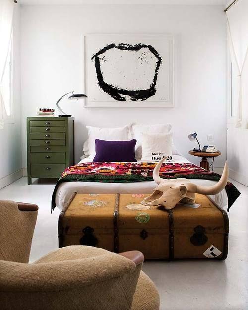asimmetric arranged #bedroom