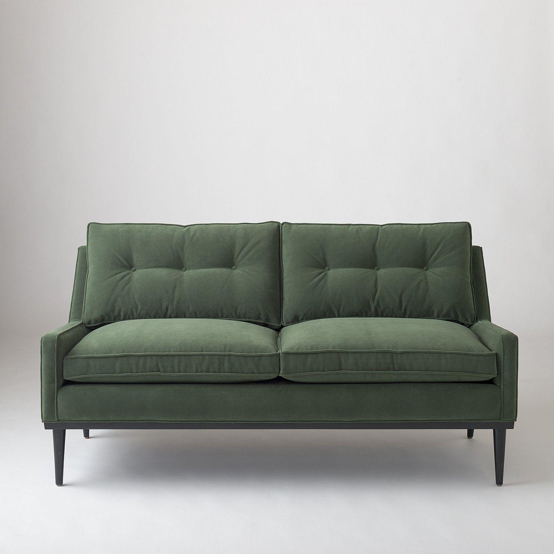 Jack Loveseat Green Velvet Love Seat Furniture Classic Sofa