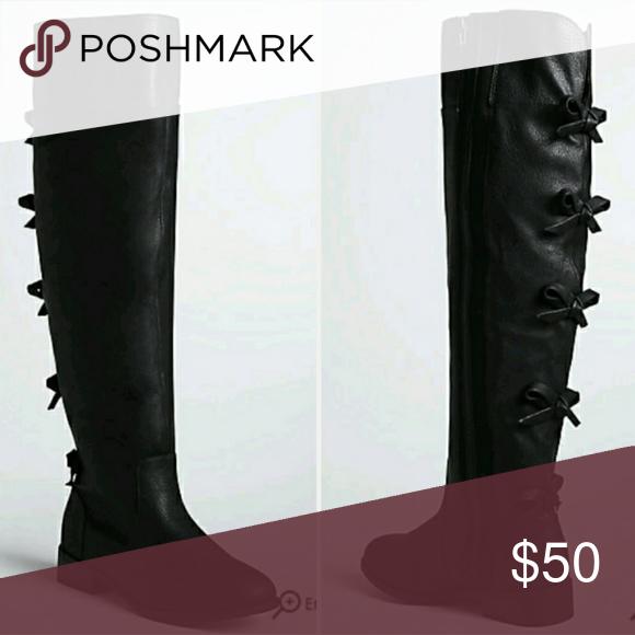 d7346b6b331 Torrid Bow Back Over Knee Boots Wide Width Calf We got you a present (