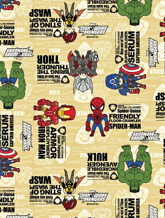 Marver Avengers Japanese fabric 50 cm by  106  cm by beautifulwork