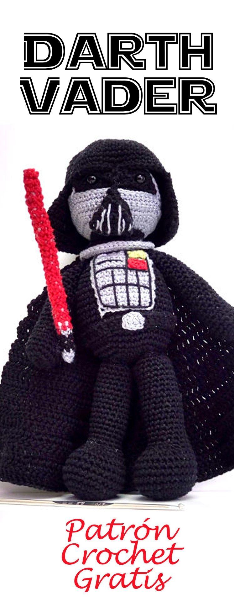 Darth Vader Amigurumi Doll: Free Crochet Pattern | Pinterest ...