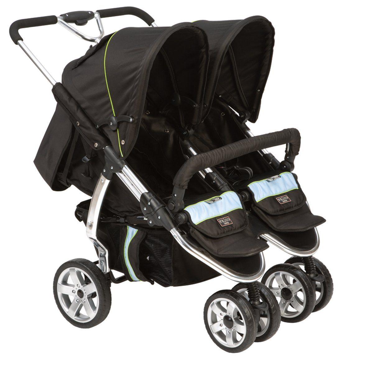 Valco Baby Latitude Twin Stroller EX Silk Black Double