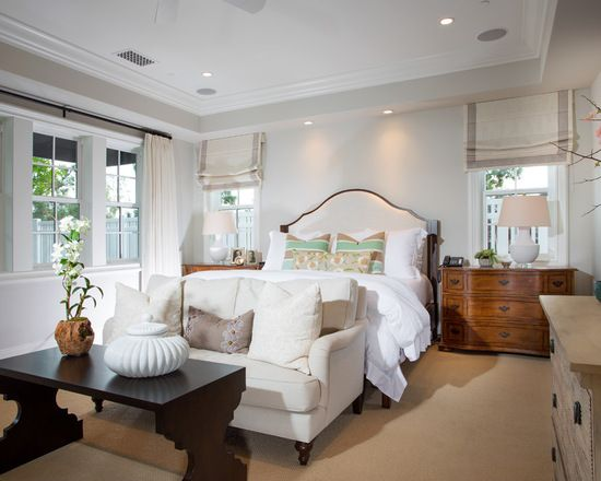 Design Ideas For A Large Traditional Master Bedroom In Orange