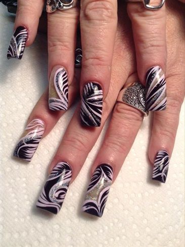 A Little Lined Out by AlysNails - Nail Art Gallery nailartgallery.nailsmag.com by Nails Magazine www.nailsmag.com #nailart