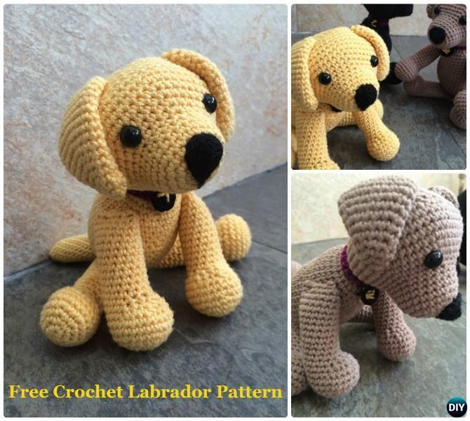 De perro de juguete de bricolaje ganchillo Labrador patrón gratis ...