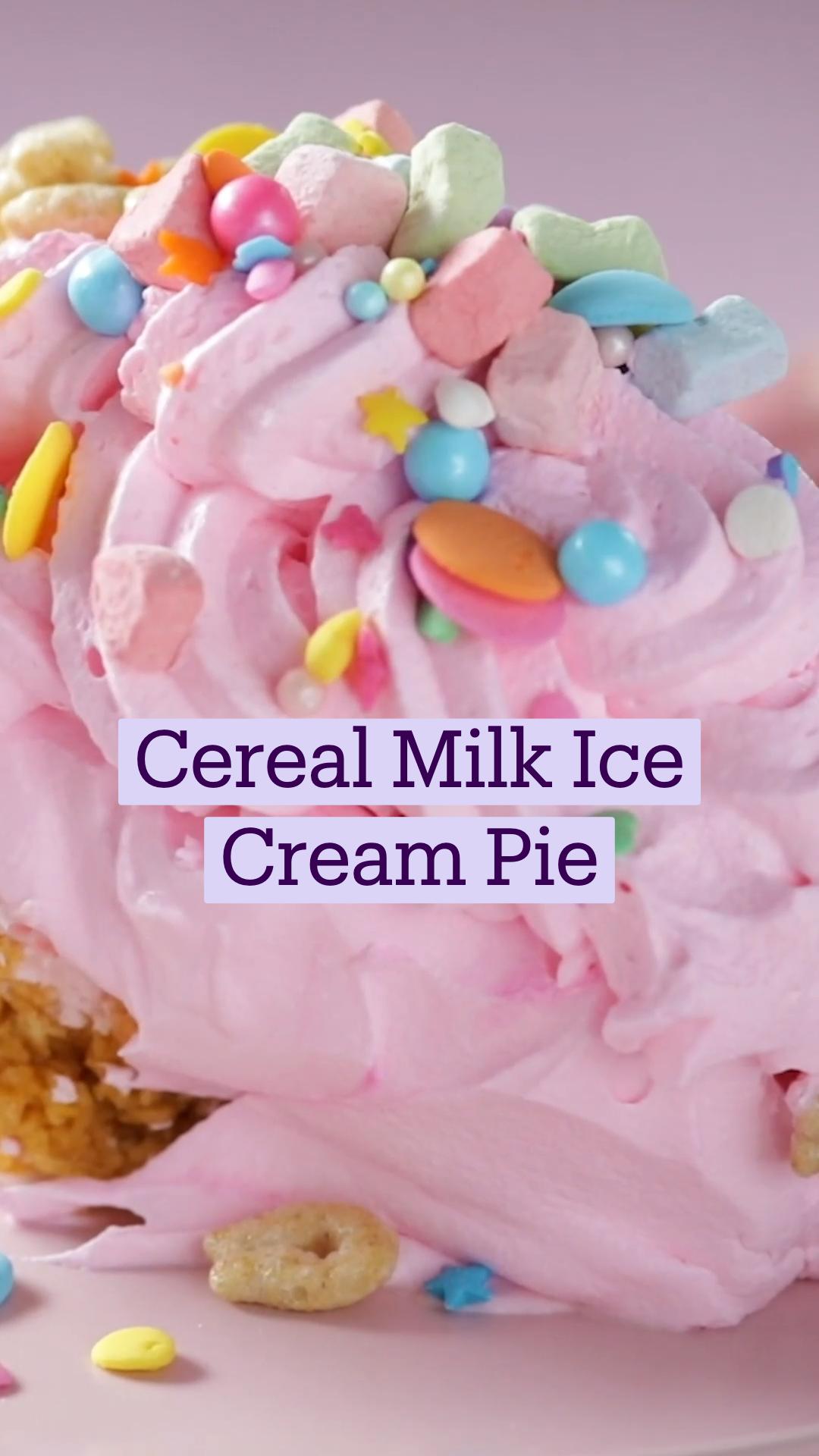 Cereal Milk Ice Cream Pie