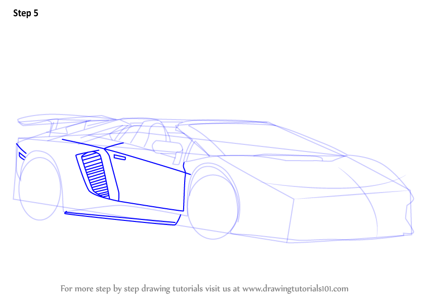 Learn How To Draw Lamborghini Aventador Lp750 4 Sv Roadster