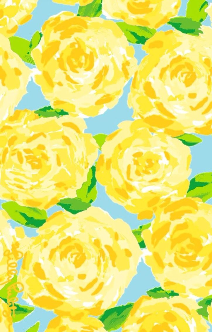 Iphone wallpaper yellow flowers - Lilly Pulitzer First Impression Print In Yellow