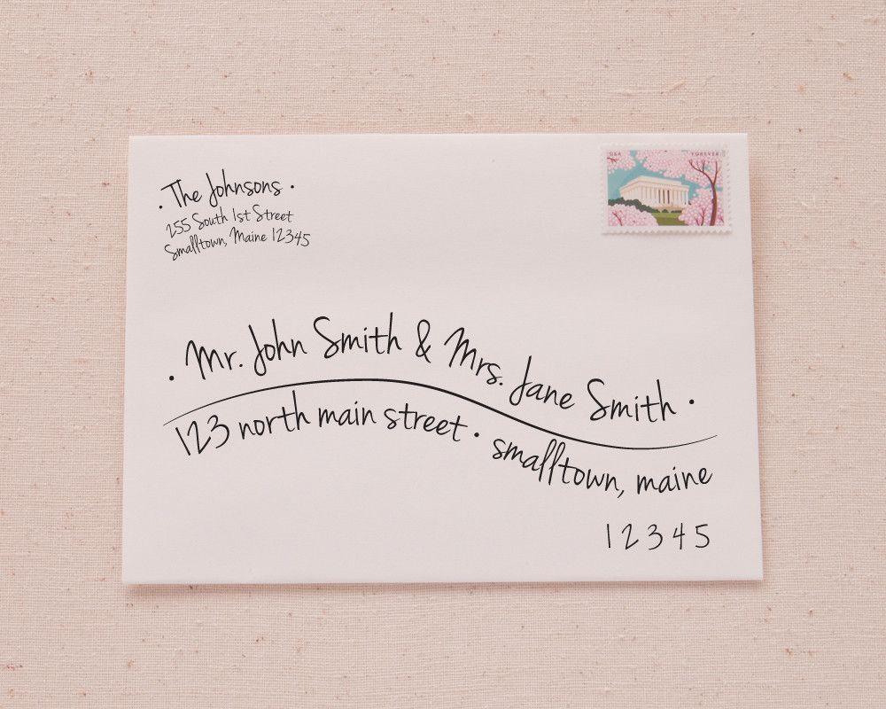 Printable A Envelope Address Template  HandLettered Wave