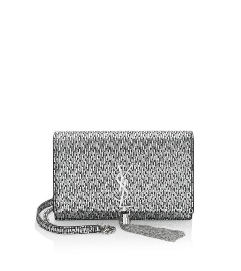 2018 Saint Laurent YSL Silver Black Monogram Kate Tassel Chain Crossbo –  MyDesignerly ab49e7e9c1db0