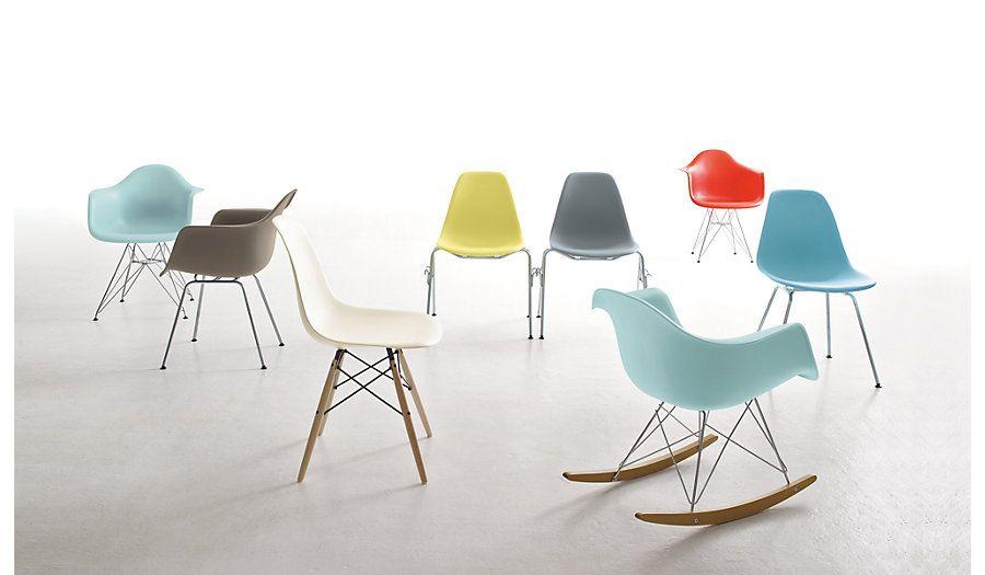 Eames Molded Plastic DowelLeg Armchair DAW Herman miller