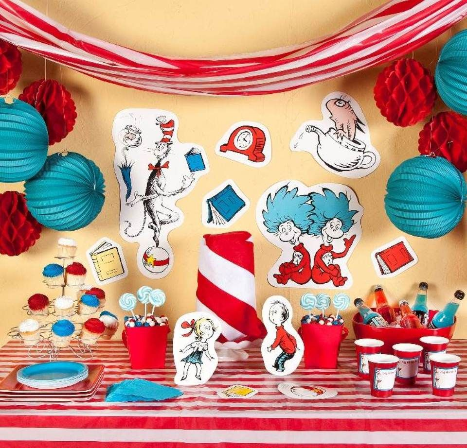 Dr seuss baby shower ideas birthday party decorating also rh pinterest