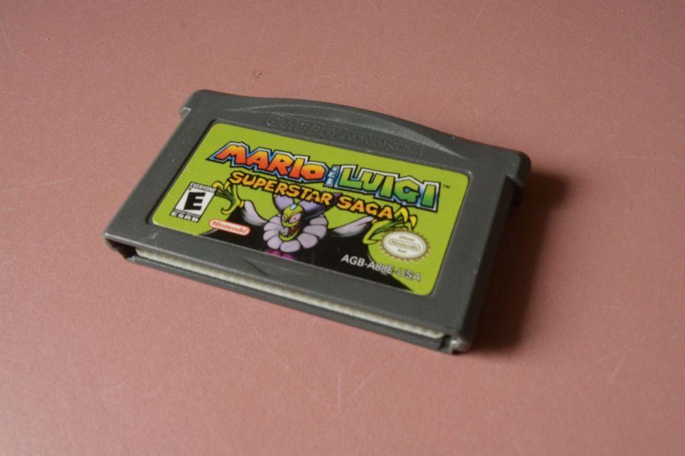 Mario Luigi Superstar Saga Nintendo Game Boy Advance Video Game