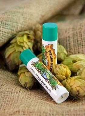Lip balm from Sierra Nevada...yeah, the beer people!  Made with cascade hops.