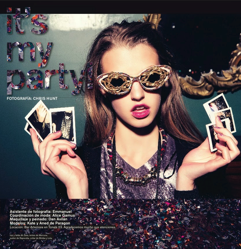 6b79ac2ac1 Nylon Magazine Mexico feature Mercura NYC crystal and lattice sunglasses  Mercura NYC hand made in NYC