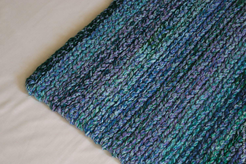купить коврик вязаный прямоугольный ультрамарин коврик коврик