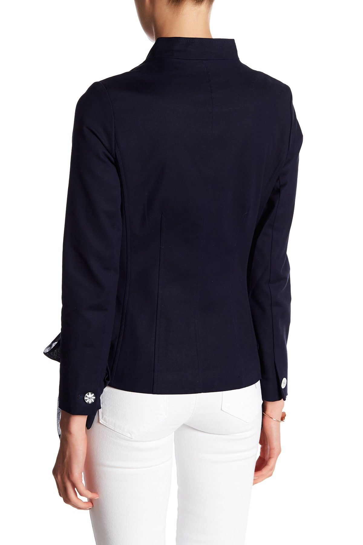 lepore Long Sleeve Blazer with LaceUp