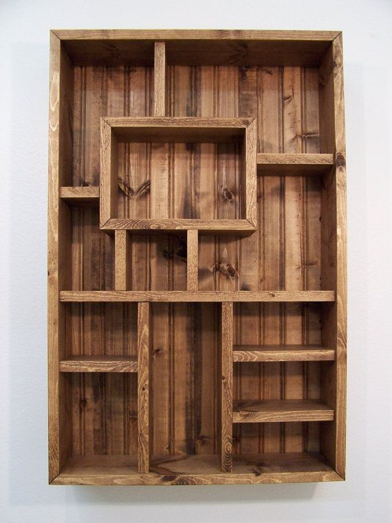 Shadowbox Wood Shelf Shadow Box Display Shelves Wood Wall Art