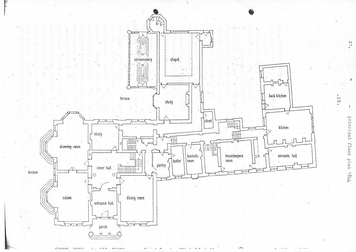 18 and 19 kensington palace gardens ground floor plan in 1847